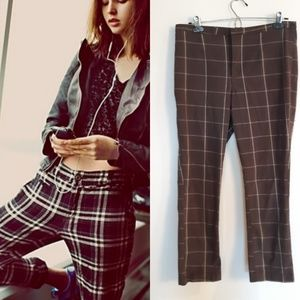Free People checked plaid trouser